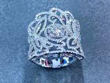 Anel de diamante - com diamantes pequenos
