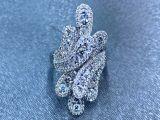 Anel de Diamante com design folhas