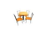 Jogo de Mesa Com 04 Cadeiras em Madeira e Ferro - Cód 1441